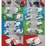 دانلود 20 طرح آماده بروشور 2 لت PSD لایه باز Bi-fold Brochure Template Bundle