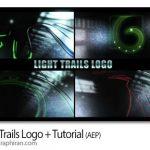 دانلود پروژه افترافکت نمایش لوگو با خطوط نور دنباله دار Light Trails Logo