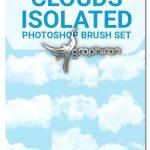 دانلود 24 براش فتوشاپ ابر سایز بالا Cloud Isolated Photoshop Brushes Set