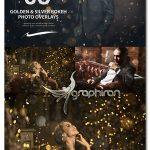 دانلود 50 تصویر پوششی بوکه ریز طلایی و نقره ای Cinematic Golden & Silver Bokeh Photo Overlays