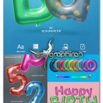 دانلود استایل های 3 بعدی بادکنکی فتوشاپ Balloon Text Effect Premium Collection