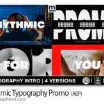 دانلود پروژه افترافکت پرومو تایپوگرافی ریتمیک Rhythmic Typography Promo