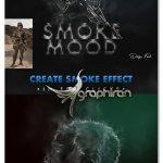 دانلود افکت لایه باز عکس سوژه دودی برای فتوشاپ Smoke Mood Photo Effect