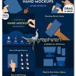 دانلود 365 موکاپ حرکت و انیمیشن دست برای افترافکت Smooth Hand Mockups