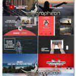 دانلود پک 140 المان گرافیکی یوتیوب برای پریمیر YouTube Promo Pack
