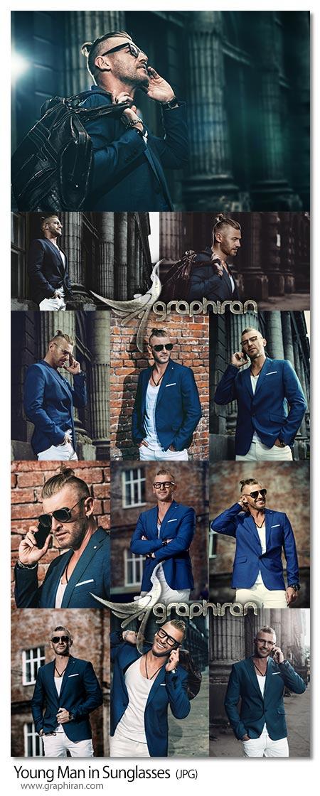 دانلود تصاویر استوک مدل مرد شیک با عینک