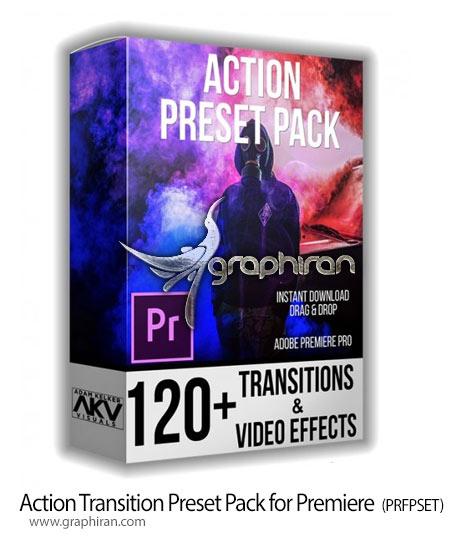 دانلود 120 پریست اکشن پریمیر Akvstudios – Action Transition Preset Pack for Premiere