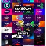 دانلود پک عظیم پوسترهای متنوع افترافکت و پریمیر Posters Neon/Broadcast/Sports/Sales/Luxury/Gaming