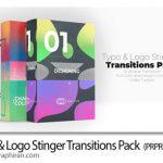 دانلود مجموعه ترانزیشن متن و لوگو برای پریمیر Typo & Logo Stinger Transitions Pack
