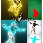 اکشن فتوشاپ افکت نور در اطراف سوژه Light Photoshop Action