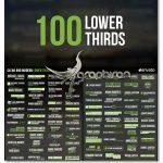 دانلود رایگان پروژه افترافکت 100 نوع زیرنویس Lower Thirds