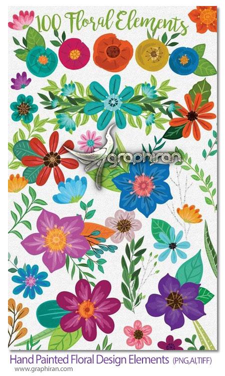 دانلود 100 کلیپ آرت گل و گلبرگ و شاخه