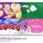 دانلود پروژه آماده افترافکت 4 تم جشن تولد Happy Birthday Opener 4in1