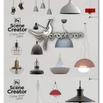 دانلود 30 عکس چراغ آویز سقفی PSD و PNG با کیفیت Isolated Ceiling Lamps
