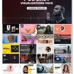 دانلود پروژه افترافکت 25 ویژوالایزر پادکست Podcast Audio Visualization Pack