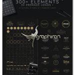 دانلود کیت 300 المان طراحی لوگو و آرم Premium Logo Creation Kit