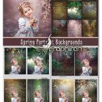 دانلود مجموعه بک گراند بهار و باغ برای عکس پرتره Spring Portrait Backgrounds