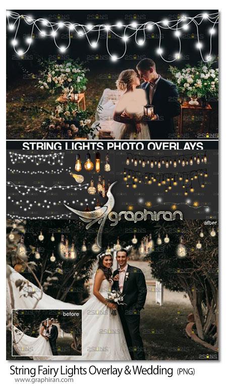 دانلود تصاویر پوششی PNG ریسه لامپ عروسی