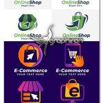 دانلود مجموعه لوگو فروشگاه و خرید اینترنتی E-Commerce Logo Collection