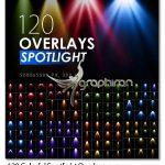 دانلود 120 عکس پوششی افکت چراغ نورافکن رنگی Colorful Spotlight Overlays