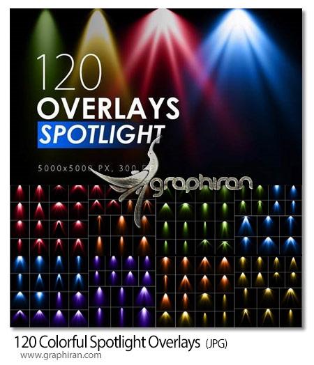 دانلود 120 عکس پوششی افکت چراغ نورافکن رنگی