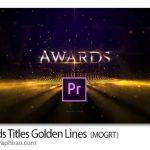دانلود پروژه پریمیر عنوان بندی مراسم اهدا جوایز Awards Titles Golden Lines