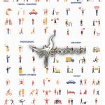 دانلود پروژه پریمیر 250+ کاراکتر پیکتوگرام Pictogram Characters