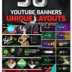 دانلود 30 طرح بنر کانال یوتیوب PSD لایه باز Youtube Multipurpose Cover Banners