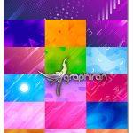 دانلود مجموعه وکتور طرح بک گراند با شکل های فانتزی Abstract Vector Background
