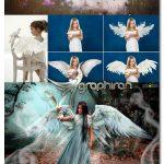 دانلود 35 عکس PNG بال سفید فرشته White Angel Wings Overlays