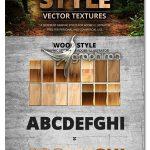 دانلود استایل های چوب برای ایلوستریتور Wood Style Vector Textures