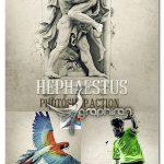 دانلود اکشن فتوشاپ افکت مجسمه Hephaestus Photoshop Action