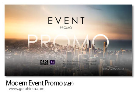 دانلود پروژه آماده افترافکت کلیپ مراسم مدرن Modern Event Promo