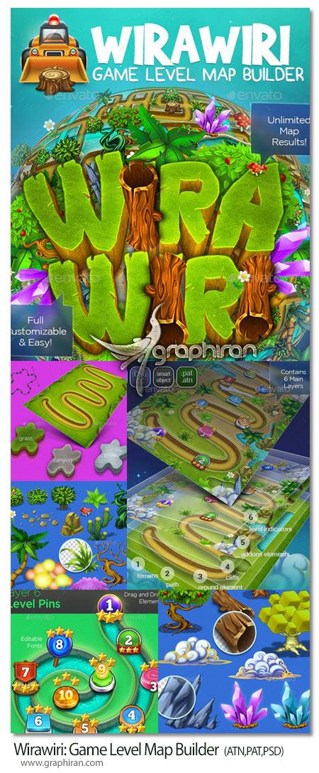 کیت فتوشاپ ساخت نقشه بازی کامپیوتری