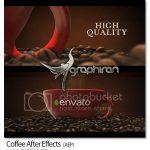 دانلود پروژه افترافکت نمایش فنجان قهوه Coffee + فیلم آموزش