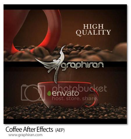 دانلود پروژه افترافکت نمایش فنجان قهوه
